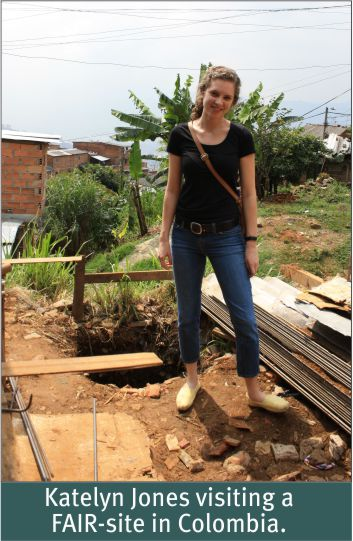 Summer 2012 - Katelyn Jones visiting FAIR-site in Colombia